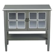 Heather Ann 2 Door Console Cabinet; Grey/White