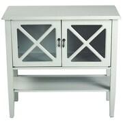 Heather Ann 2 Door Console Cabinet; Sea Foam Green