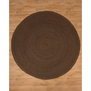 Natural Area Rugs Brooklyn Jute Hand Woven Natural Area Rug; Round 8'