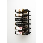 VintageView Wall Series 18 Bottle Wall Mounted Wine Rack; Satin Black