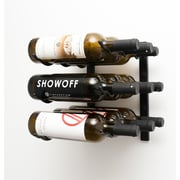 VintageView Wall Series 9 Bottle Wall Mounted Wine Rack; Satin Black