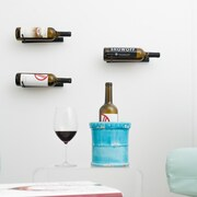 VintageView Vino Pin Series  1 Bottle Wall Mounted Wine Rack; Satin Black