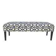 MJLFurniture Kaya Sheffield Upholstered Bedroom Bench; Indigo