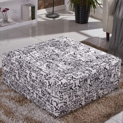 Corzano Designs Script Cocktail Ottoman