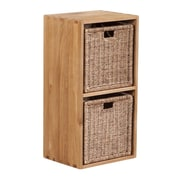 Besp-Oak Vancouver 34'' Cube with 2 Jute Baskets