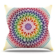 KESS InHouse Colorful Vibrant Mandala by Famenxt Throw Pillow; 16'' H x 16'' W x 3'' D