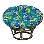 Blazing Needles Outdoor Papasan Cushion; Rolling Mead Veranda Cosmo