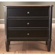AA Importing 3 Drawer Chest; Antique Black