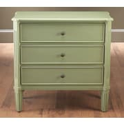 AA Importing 3 Drawer Chest; Antique Green