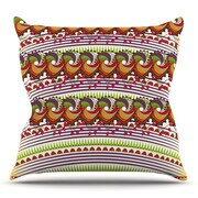 KESS InHouse Colorful Traditional Pattern by Famenxt Throw Pillow; 18'' H x 18'' W x 3'' D