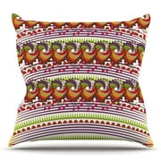 KESS InHouse Colorful Traditional Pattern by Famenxt Throw Pillow; 26'' H x 26'' W x 5'' D