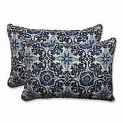 Pillow Perfect Woodblock Indoor/Outdoor Throw Pillow (Set of 2); 16.5'' H x 24.5'' W