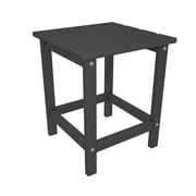 POLYWOOD  Long Island Side Table; Slate Grey