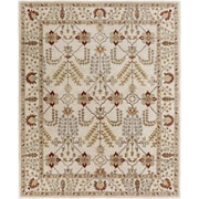 Artistic Weavers Middleton Kelly Hand-Crafted Ivory/Burgundy Area Rug; 5' x 8'