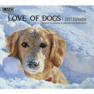 LANG 2017 Wall Calendar: Love of Dogs, (17991001927)