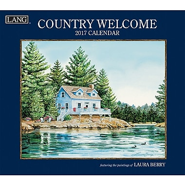 LANG 2017 Wall Calendar: Country Welcome, (17991001907)
