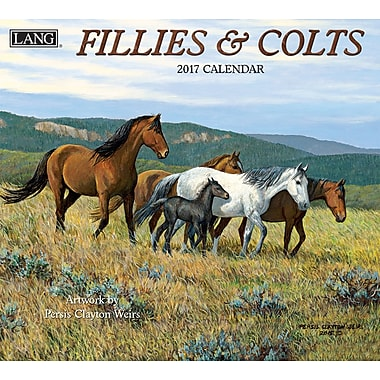 LANG 2017 Wall Calendar: Fillies & Colts, (17991001910)