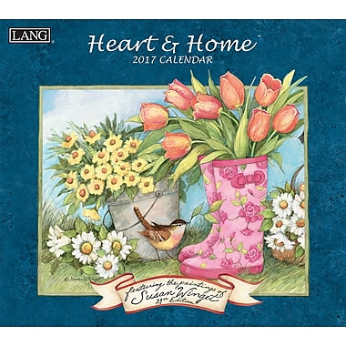 LANG 2017 Wall Calendar: Heart & Home®, (17991001913)