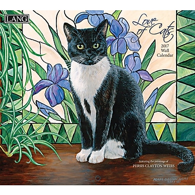 LANG 2017 Wall Calendar: Love of Cats, (17991001926)