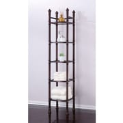 Fox Hill Trading Monte Carlo 14'' x 67'' Bathroom Tower Shelf; Oil Rubbed Bronze