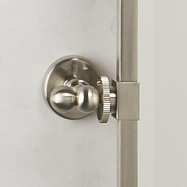 Afina Radiance Gear Tilt Medium Wall Mirror; Satin Nickel