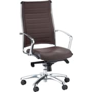 Eurotech Seating Europa High-Back Desk Chair; Brown