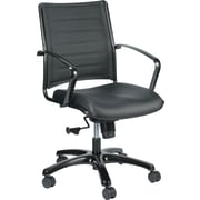 Eurotech Seating Europa Titanium Mid-Back Leather Chair
