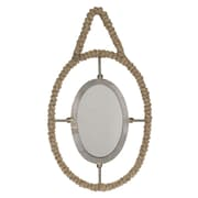 CKK Home D cor, LP Stonebriar 12.5'' Jute Wrapped Metal Mirror