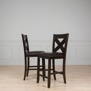 AW Furniture 25'' Bar Stool with Cushion (Set of 2)