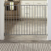 Storkcraft Easy Walk-Thru Metal Safety Gate; Gray