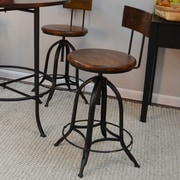 Carolina Cottage Blair Adjustable Height Swivel Bar Stool