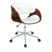 Porthos Home Monroe Mid-Back Task Chair; White