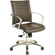 Eurotech Seating Europa Leather Desk Chair; Brown