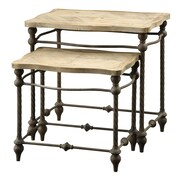 Coast to Coast Imports 2 Piece Nesting Table Set