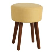 Porthos Home Wallace Upholstered Stool; Yellow