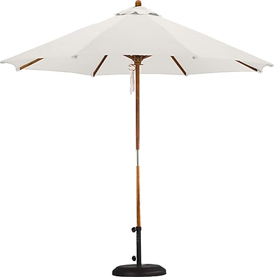 California Umbrella 9' Market Umbrella; Polyester Natural WYF078277682065