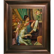 Wildon Home   Young Girls at the Piano Canvas Art by Pierre Auguste Renoir Traditional - 46'' X 36''