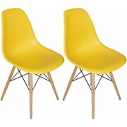 Mod Made Paris Tower Side Chair (Set of 2); Yellow