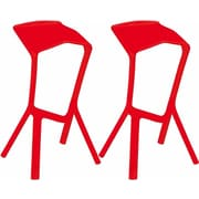 Mod Made Aspect 32'' Bar Stool (Set of 2); Red