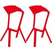 Mod Made 32'' Bar Stool (Set of 2); Red