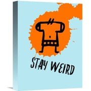 Naxart 'Stay Weird Poster' Painting Print on Wrapped Canvas; 16'' H x 12'' W x 1.5'' D