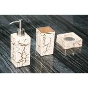 MaestroBath Kalahari Luxury Bathroom Set; White / Gold