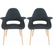 Mod Made Morza Arm Chair (Set of 2); Black