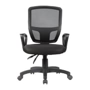 Porthos Home Victoria Mid-Back Mesh Task Chair with Arms; Black
