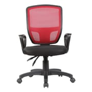 Porthos Home Victoria Mid-Back Mesh Task Chair with Arms; Red