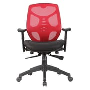 Porthos Home Baxter Mid-Back Mesh Task Chair with Arms; Red