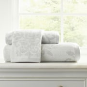 Laura Ashley Hobeck Willow Jacquard 3 Piece Towel Set