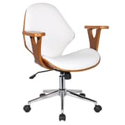 Porthos Home Lillian Adjustable Office Chair; Flat White