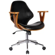Porthos Home Lillian Adjustable Office Chair; Polished Obsidian
