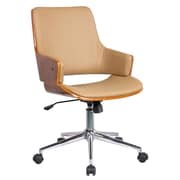 Porthos Home Solene High-Back Leather Office Chair with Arms; Desert Sandstone